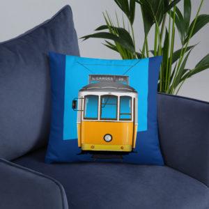 Tram 28 Largo Camões - Square Pillow