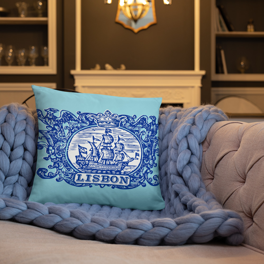 Lisbon Tile Indigo Blue - Square Pillow