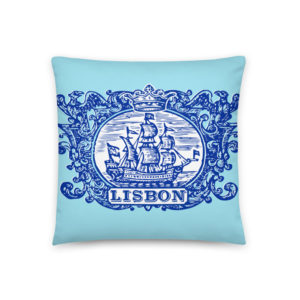 Lisbon Tile Indigo Blue - Square Pillow