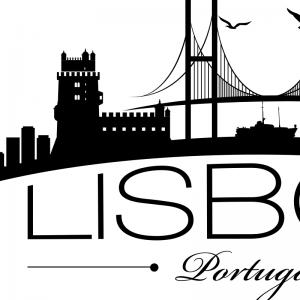 Lisbon City Silhouette