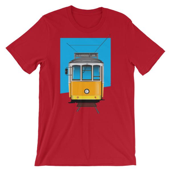 Tram 28 Largo Camões - Short-Sleeve Unisex T-Shirt