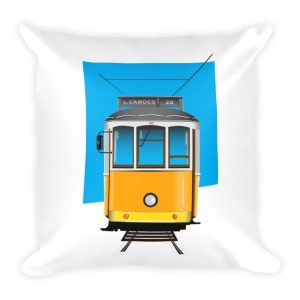 Tram 28 Largo Camões - Square Pillow