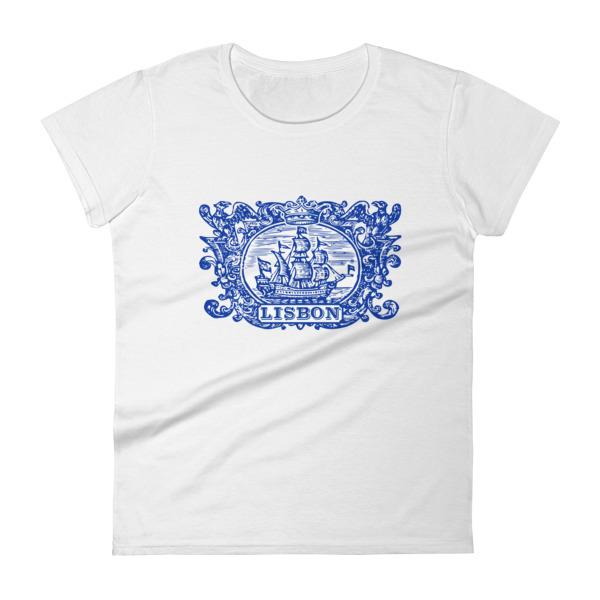 Lisbon Tile Indigo Blue - Women's Short Sleeve T-shirt