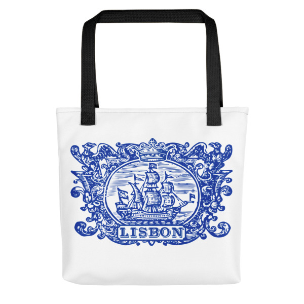 Lisbon Tile Indigo Blue - All-Over Tote Bag