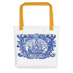 Lisbon Tile Indigo Blue - All-Over Tote Bag