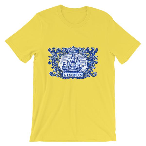Lisbon Tile Indigo Blue – Short-Sleeve Unisex T-Shirt