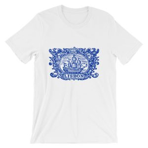 Lisbon Tile Indigo Blue – Short-Sleeve Unisex T-Shirt