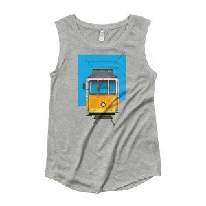 Tram 28 Largo Camões - Ladies Cap Sleeve T-Shirt