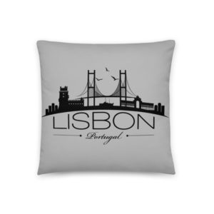 Lisbon City Silhouette - Square Pillow