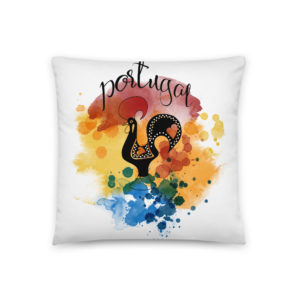 Galo de Barcelos Portugal - Square Pillow