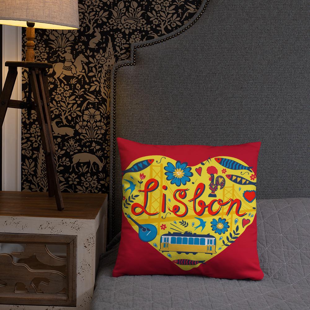 Love For Lisbon - Square Pillow