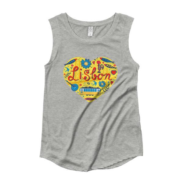 Love For Lisbon - Ladies Cap Sleeve T-Shirt