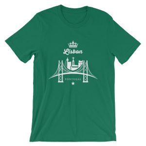 Crown Lisbon 25 de Abril Bridge - Short-Sleeve Unisex T-Shirt