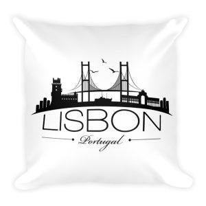 Lisbon City Silhouette - Square Pillow