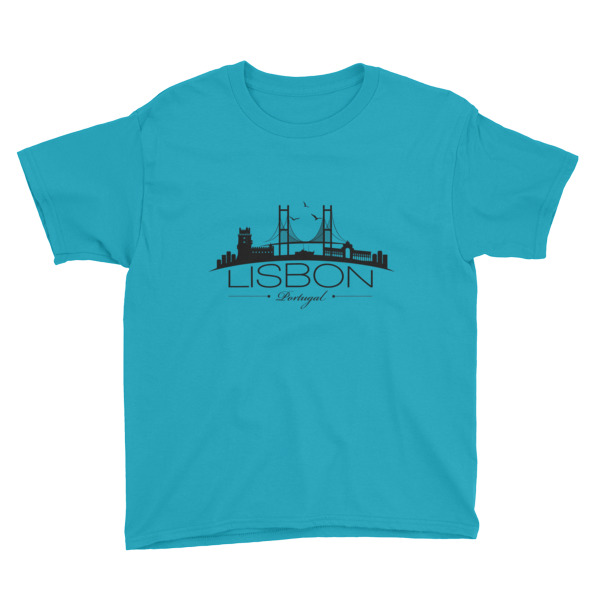 Lisbon City Silhouette – Youth Short Sleeve T-Shirt