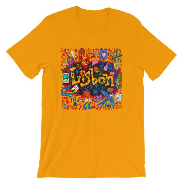 Lisbon Traditional Symbols - Short-Sleeve Unisex T-Shirt