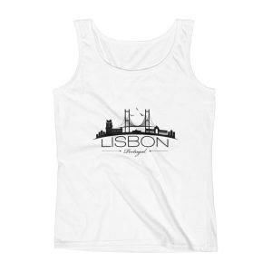 Lisbon City Silhouette - Ladies Tank Top
