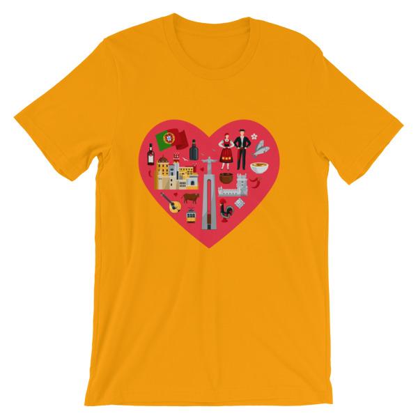 Portugal Love Illustration - Short-Sleeve Unisex T-Shirt