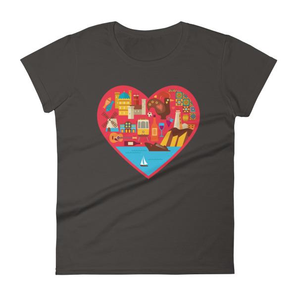 Portugal Love Heart - Women's Short Sleeve T-shirt