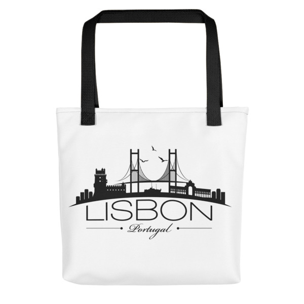 Lisbon City Silhouette - All-Over Tote Bag