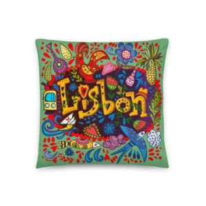 Lisbon Traditional Symbols - Square Pillow