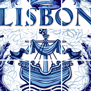 Lisbon Ceramic Tile Blue