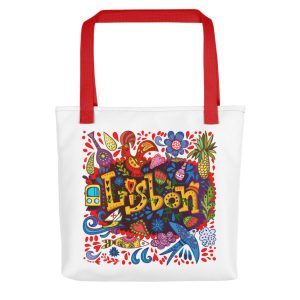 Lisbon Traditional Symbols - All-Over Tote Bag