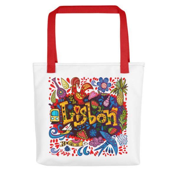 Lisbon Traditional Symbols - All-Over Tote Bag