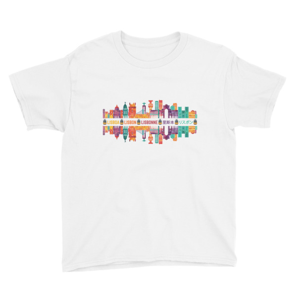 Lisbon Multi Color Silhouette - Youth Short Sleeve T-Shirt