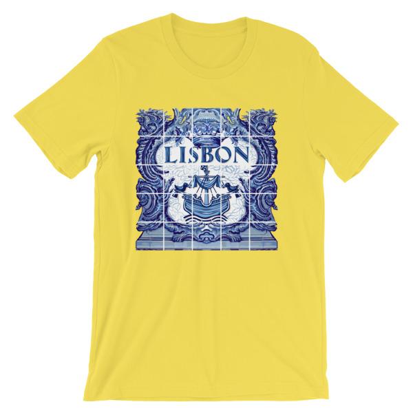 Lisbon Ceramic Tile Blue - Short-Sleeve Unisex T-Shirt