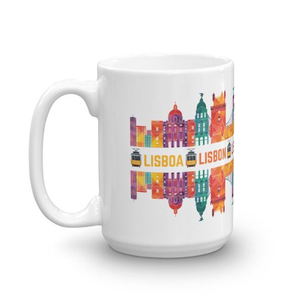 Lisbon Multi Color Silhouette – Mug