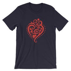 Filigrana Heart - Short-Sleeve Unisex T-Shirt
