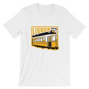 Lisbon Portugal Tram - Short-Sleeve Unisex T-Shirt