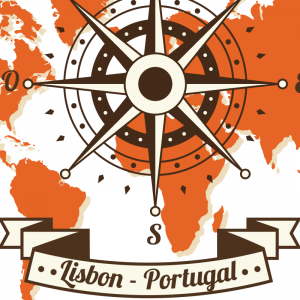 Lisbon Portugal Windrose Map