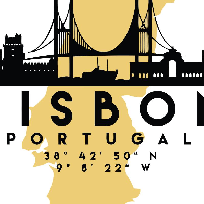Lisbon Portugal GPS Coordinates - Short-Sleeve Unisex T-Shirt