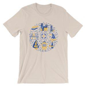 Portugal Symbols Illustration - Short-Sleeve Unisex T-Shirt