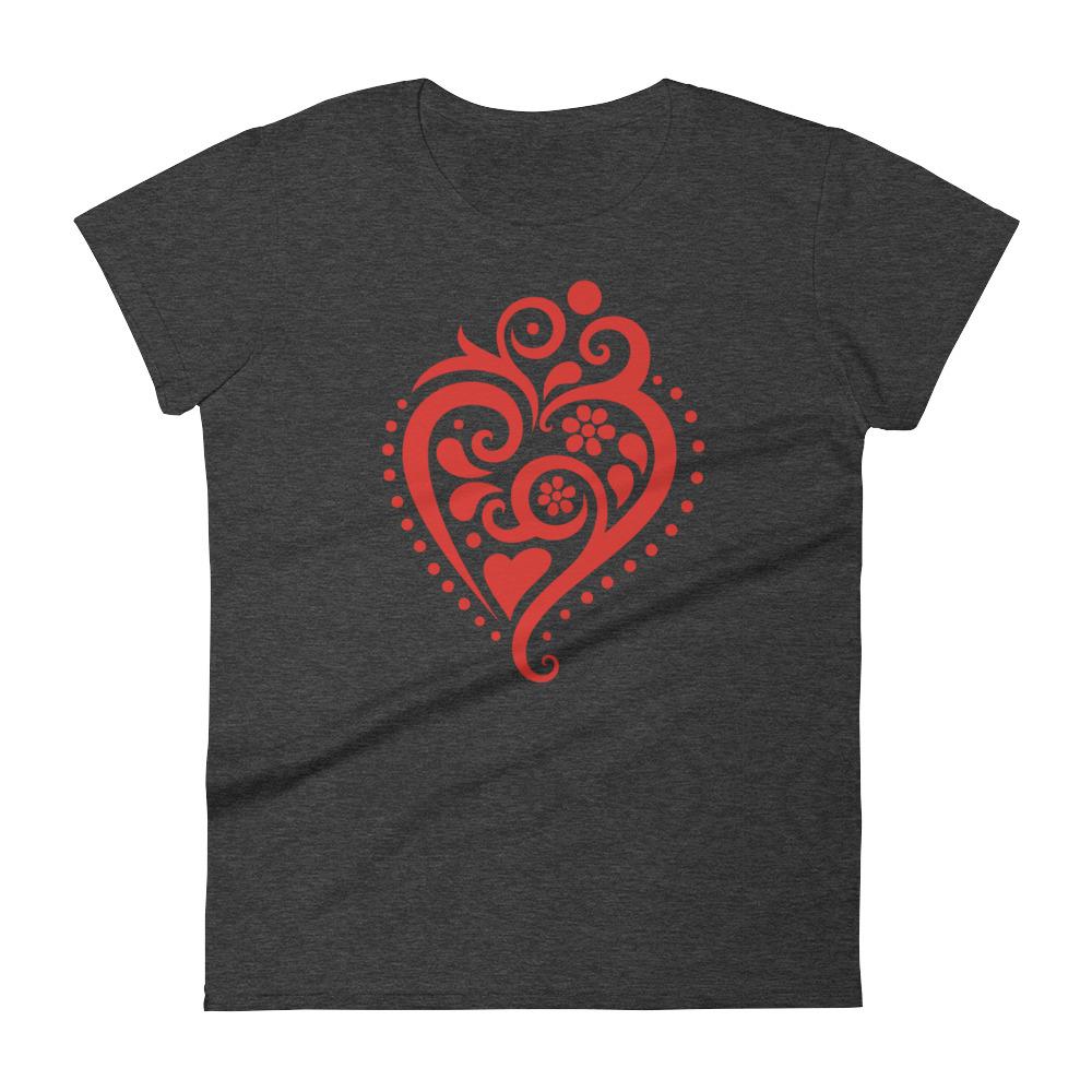 Filigrana Heart - Women's Short Sleeve T-Shirt