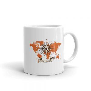 Lisbon Portugal Windrose Map - Mug