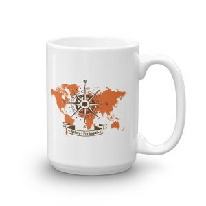 Lisbon Portugal Windrose Map - Mug