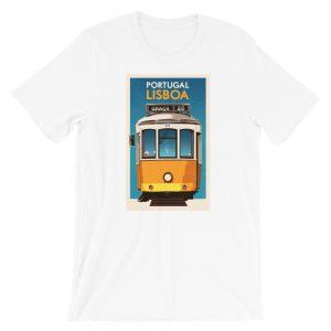 Vintage Lisbon Tram - Short-Sleeve Unisex T-Shirt