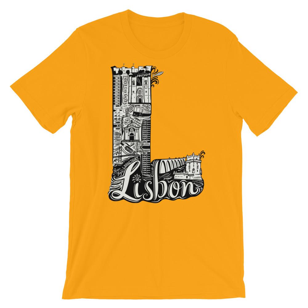 Lisbon Letter L - Short-Sleeve Unisex T-Shirt