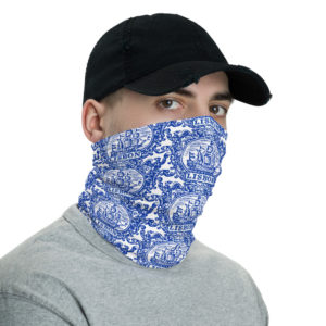 Lisbon Tile Indigo Blue - Face Mask Neck Gaiter