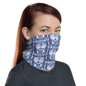 Lisbon Ceramic Tile Blue - Face Mask Neck Gaiter