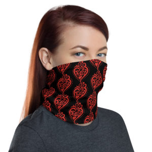 Filigrana Heart - Face Mask Neck Gaiter