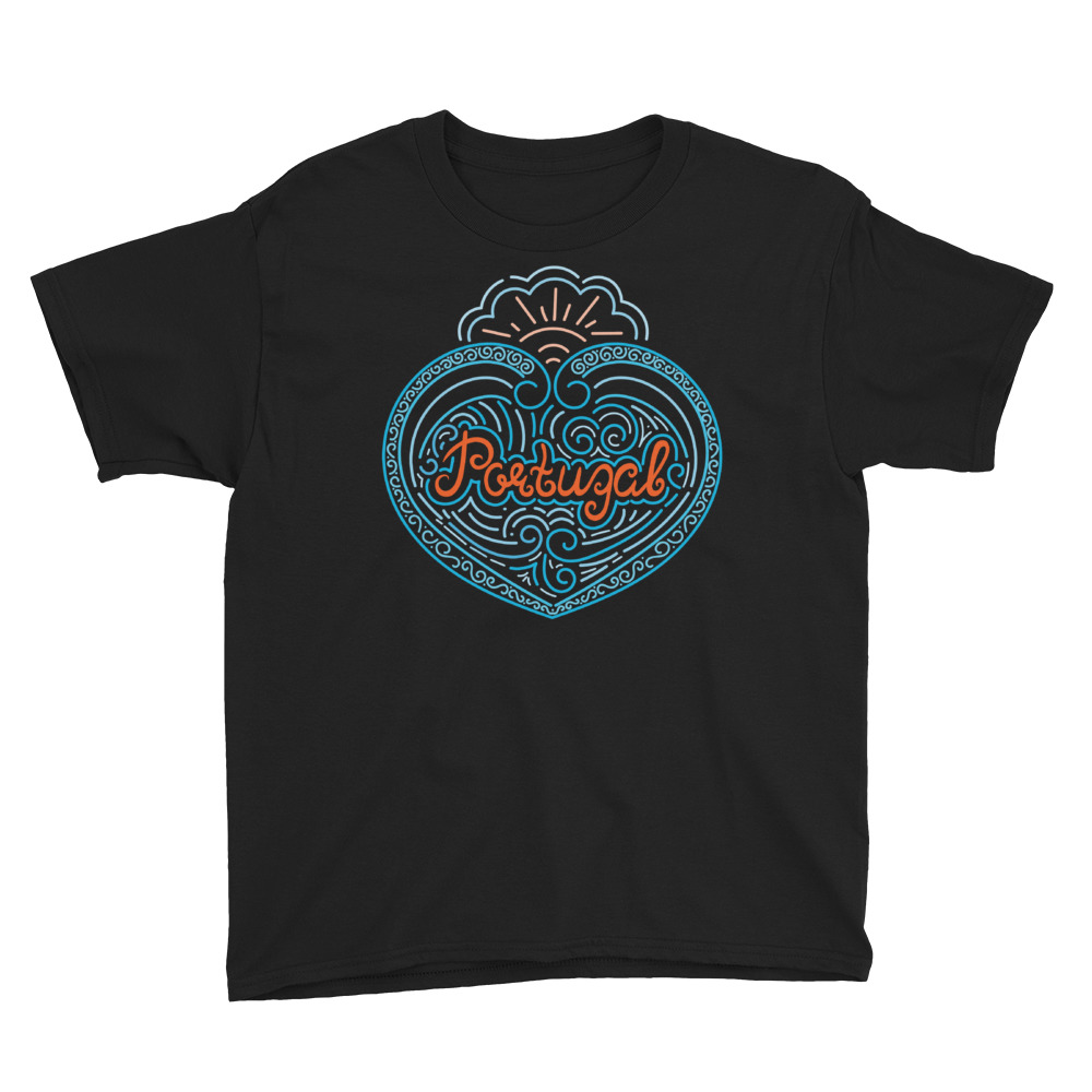 Portugal Blue Wave Heart - Youth Short Sleeve T-Shirt
