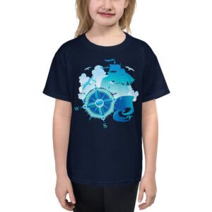 Caravela Rosa dos Ventos - Youth Short Sleeve T-Shirt