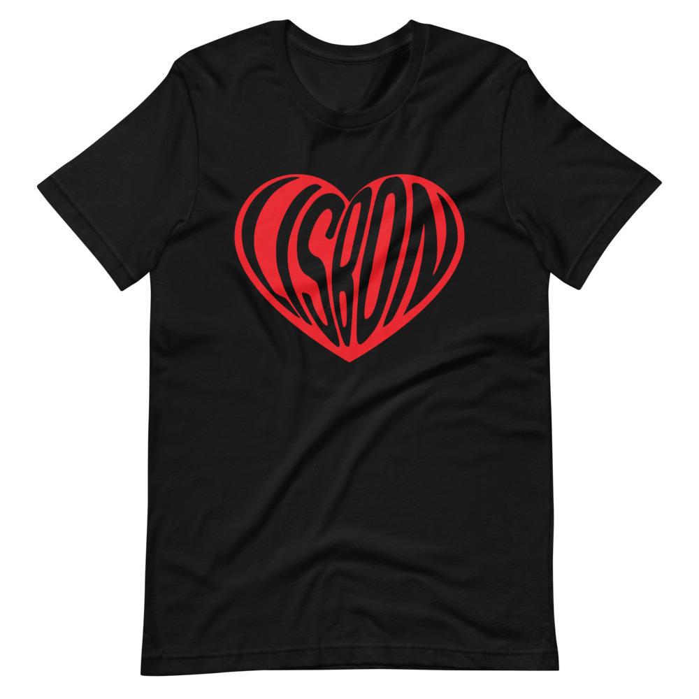 Lisbon Heart Balloon - Premium Unisex T-Shirt